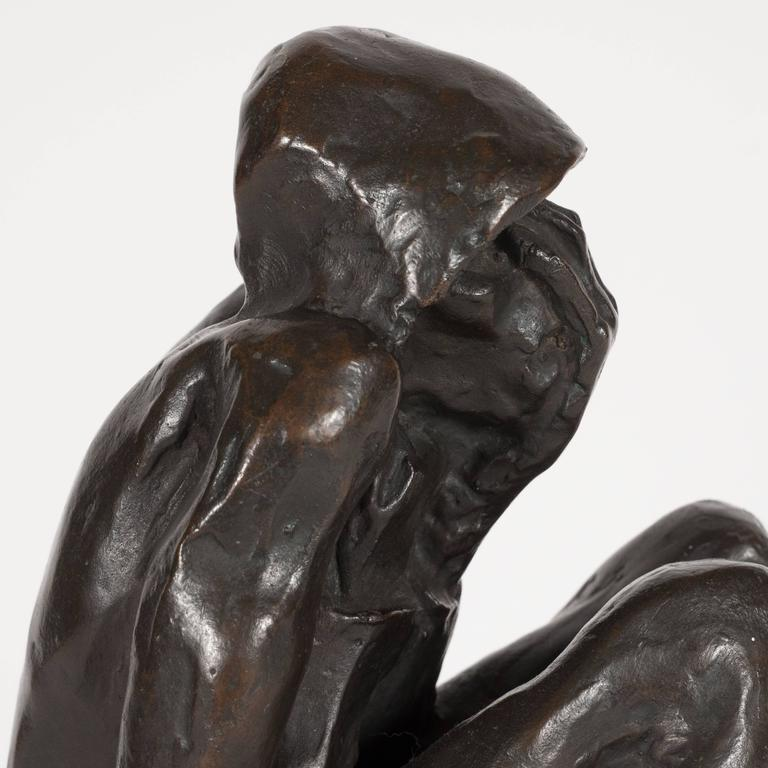 "Bronze on Marble Base ""Grief"" by Doris Porter Caeser 8"