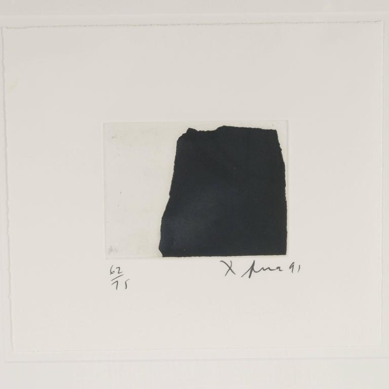 Modernist Richard Serra Abstract Etching, Signed Numbered and Dated 2