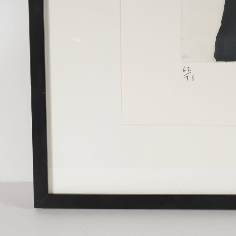 Modernist Richard Serra Abstract Etching, Signed Numbered and Dated 3