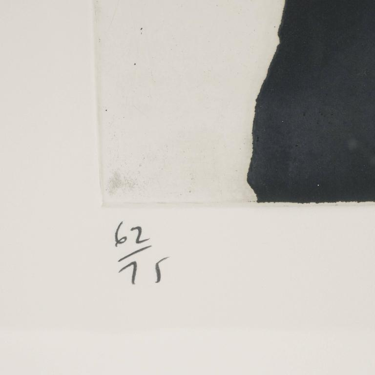 Modernist Richard Serra Abstract Etching, Signed Numbered and Dated 4