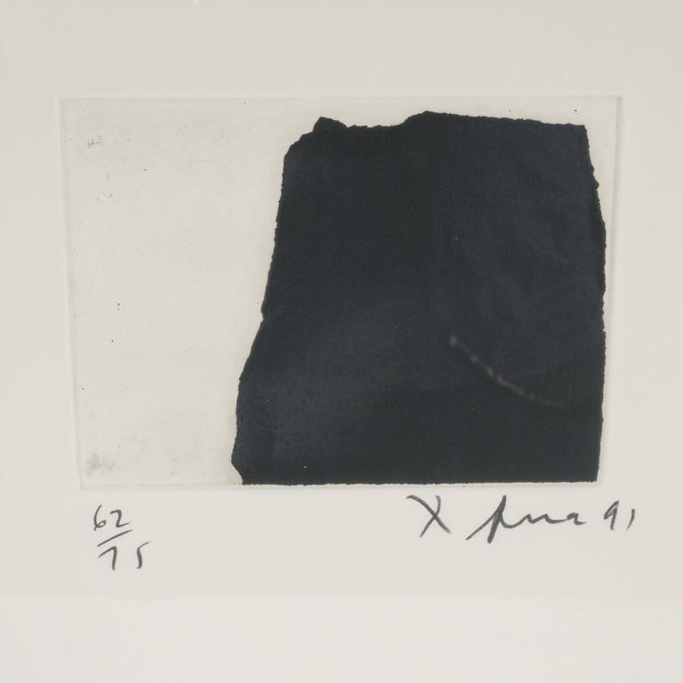 Modernist Richard Serra Abstract Etching, Signed Numbered and Dated 5