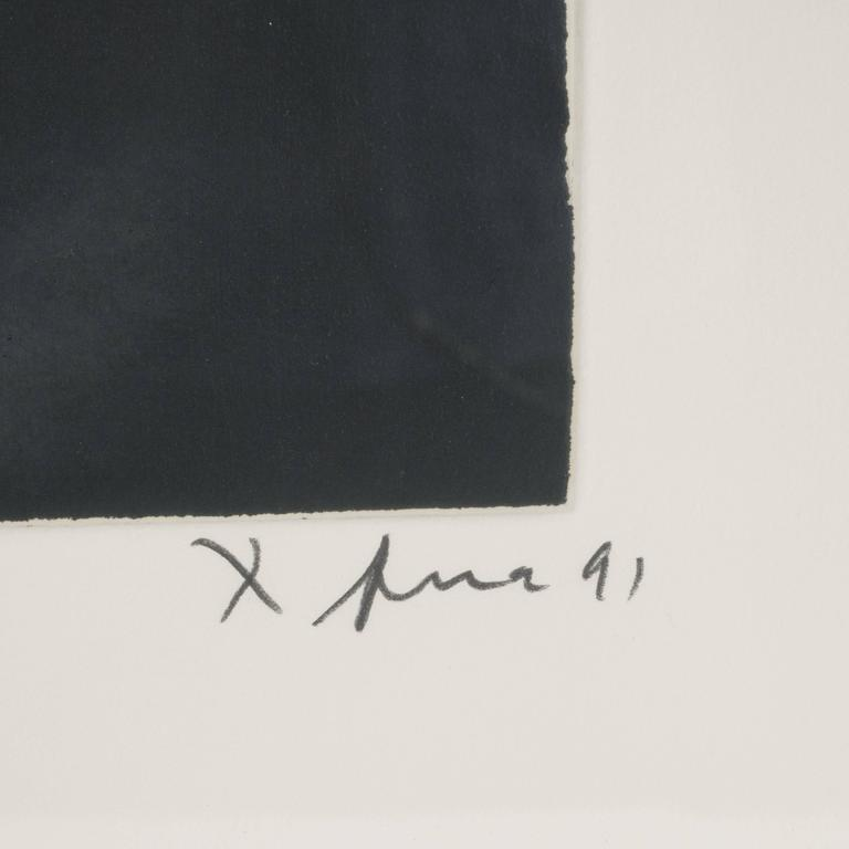 Modernist Richard Serra Abstract Etching, Signed Numbered and Dated 6