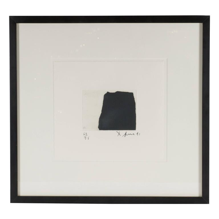 Modernist Richard Serra Abstract Etching, Signed Numbered and Dated 1