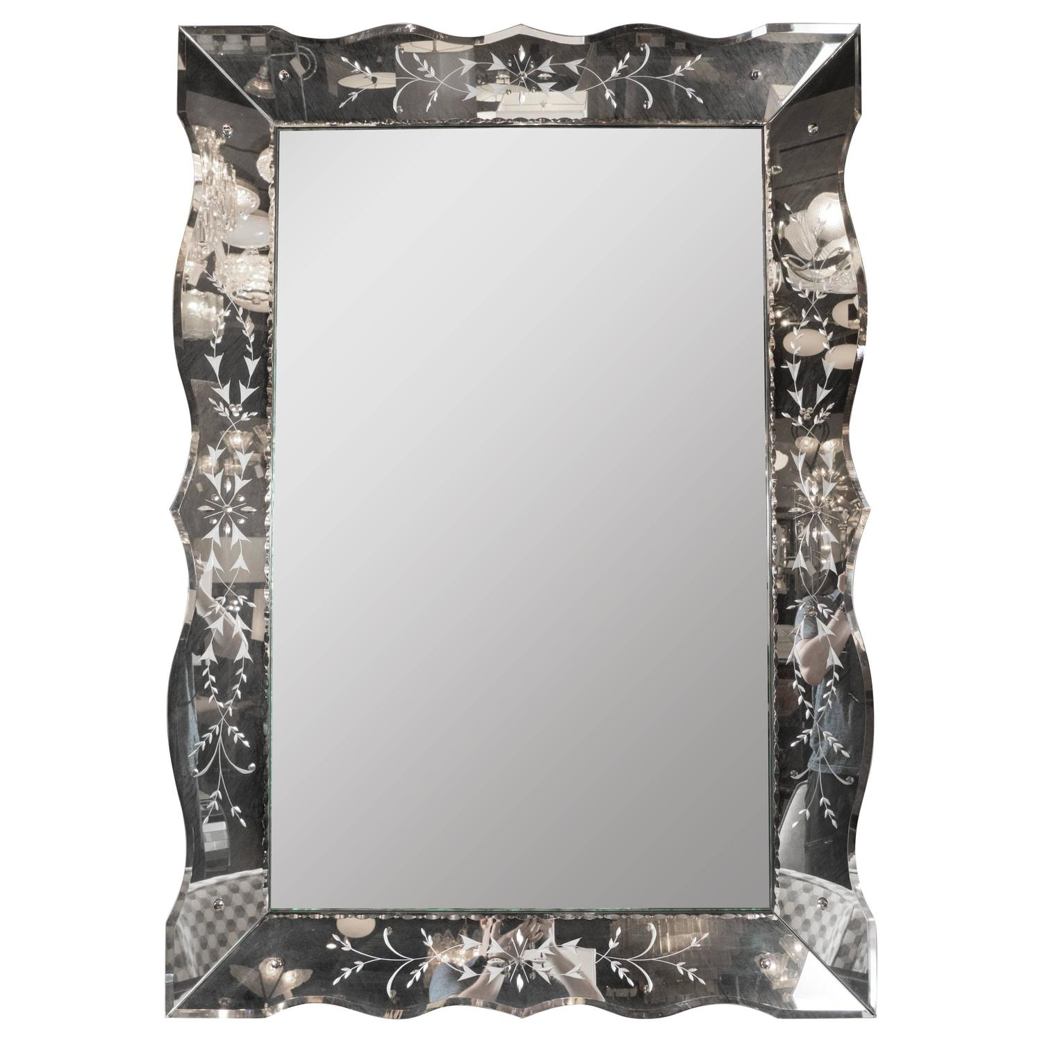 Beveled wall mirror vintage full size of beveled wall for Full size wall mirror