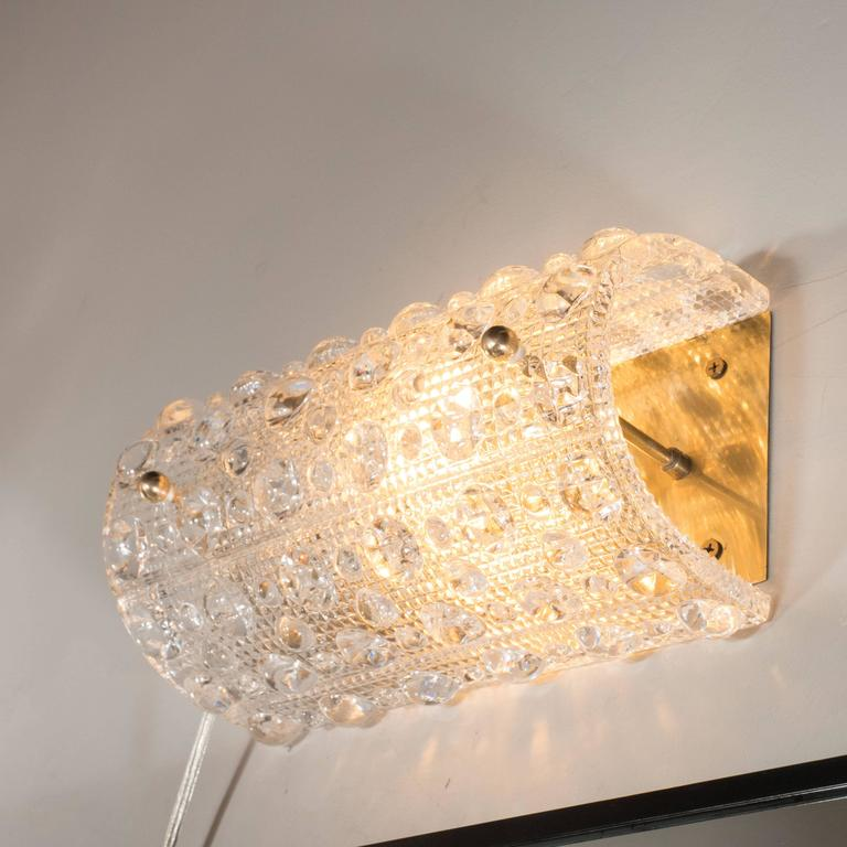 Blown Glass Vanity Light : Mid-Century Handblown Glass Vanity Light by Carl Fagerlund for Orrefors at 1stdibs
