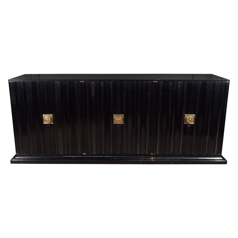 Mid-Century Modern Sideboard by Tommi Parzinger in Ebonized Walnut