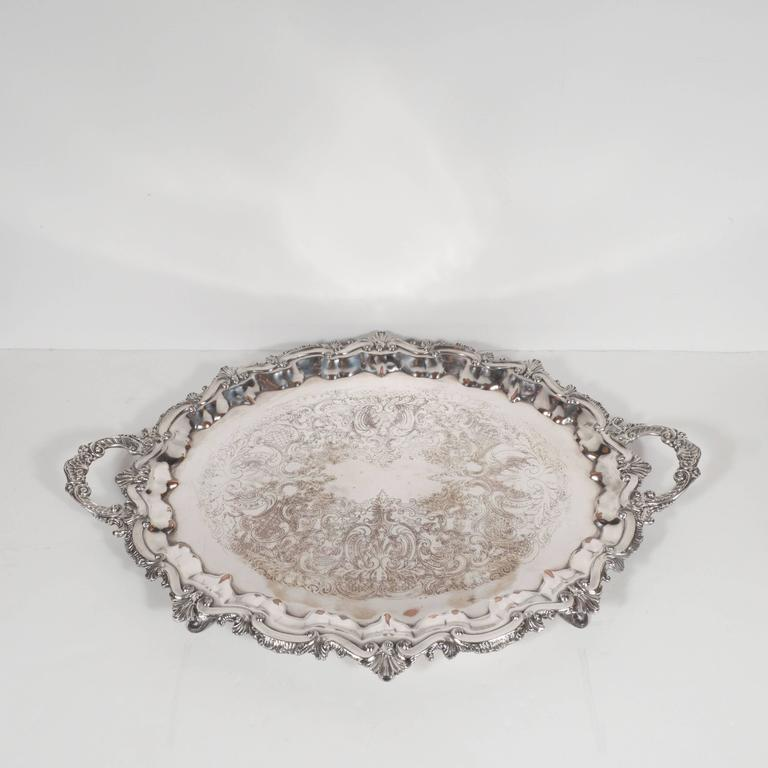Elegant Neoclassical Silverplated Coffee/Tea Service by Elkington & Co. For Sale 1