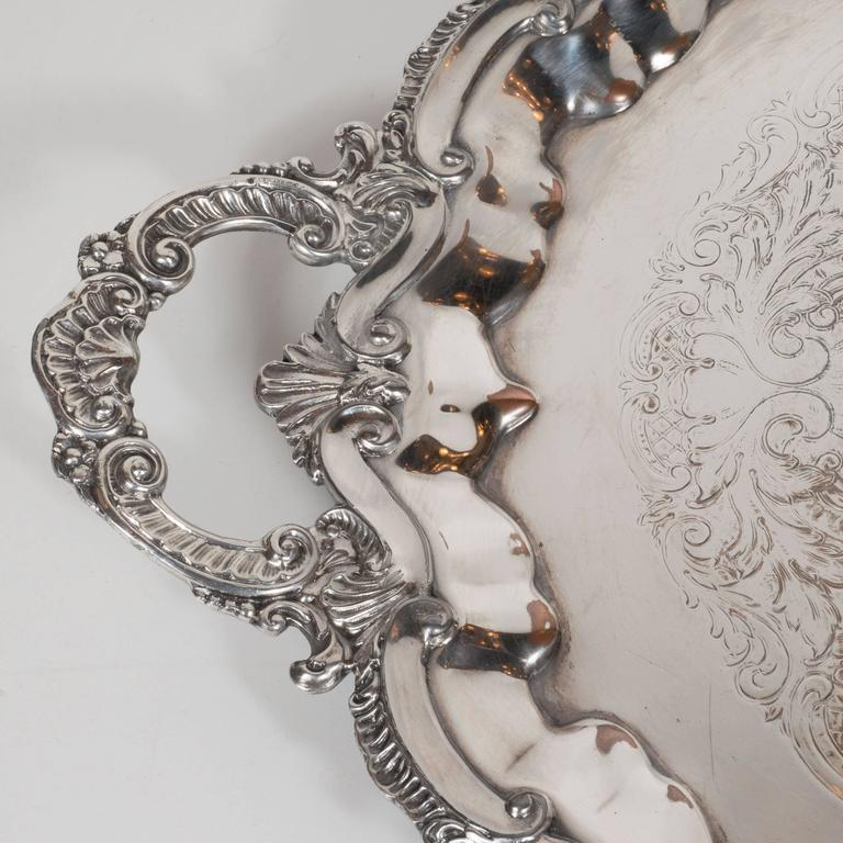 Elegant Neoclassical Silverplated Coffee/Tea Service by Elkington & Co. For Sale 3