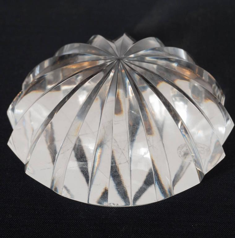 Late 20th Century Brilliant Mid-Century Modernist Crystal Baccarat Paperweight For Sale