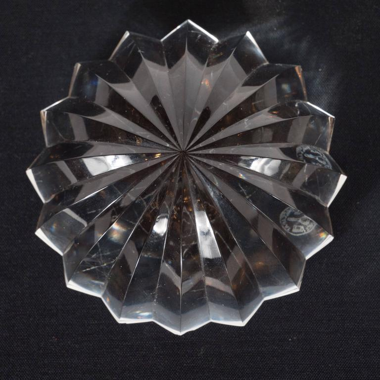 Cut Glass Brilliant Mid-Century Modernist Crystal Baccarat Paperweight For Sale