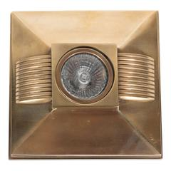 Art Deco Style Brushed Bronze Spotlight with Streamline Design