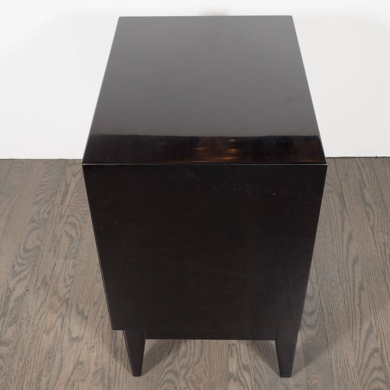 Mid-20th Century Ebonized Walnut Mid-Century Modern Sculptural End Tables or Nightstands For Sale