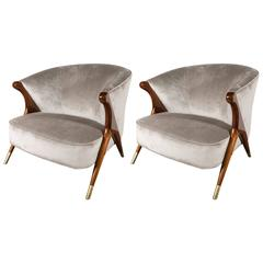 Pair of Mid-Century Modernist Lounge Chairs by Karpen of California