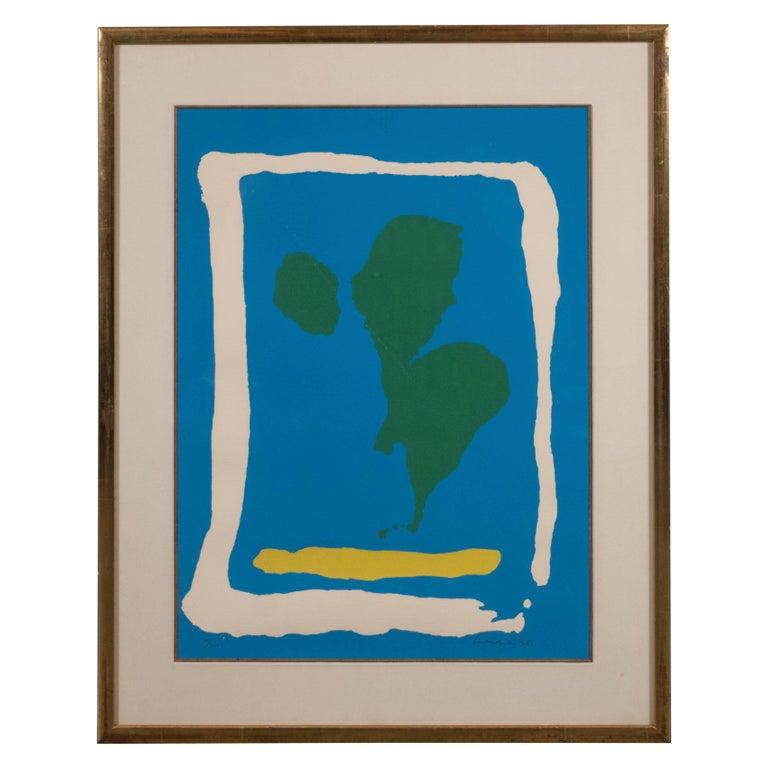 "Color screenprint by Helen Frankenthaler, ""Air Frame,"" from ""New York Ten,"" 1965"