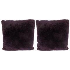 Custom Handmade Pillows in Luxe Smoked Amethyst Loro Piana Cashmere