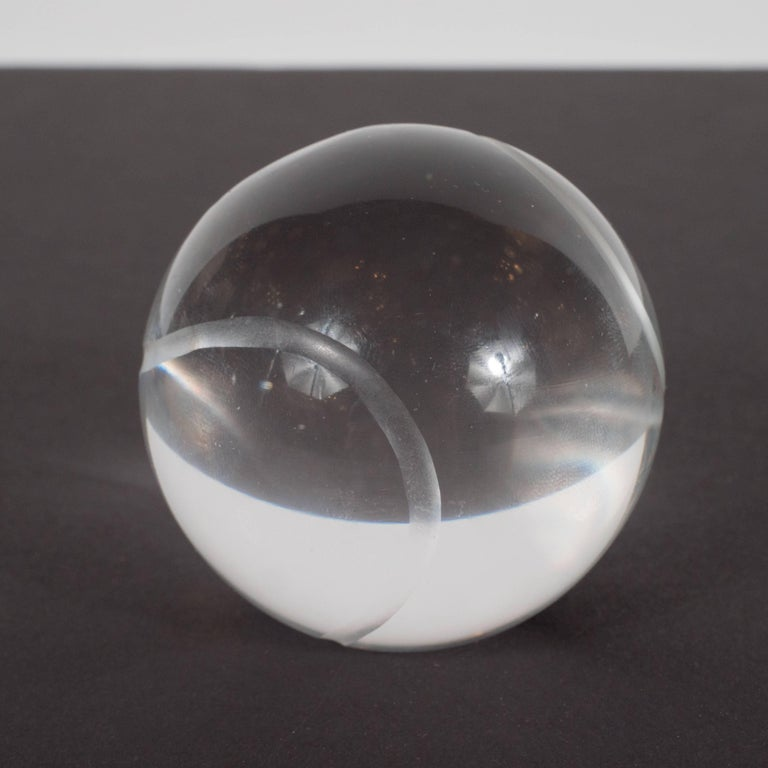 American Mid-Century Modern Baseball Paperweight by Tiffany & Co. For Sale