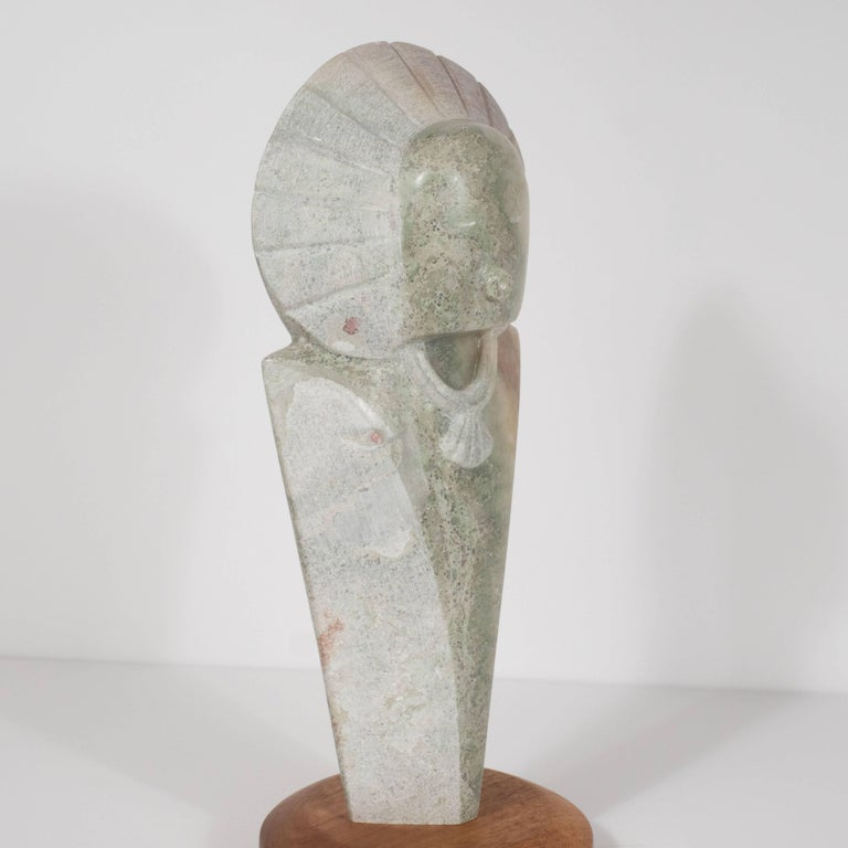 Stylized Native American Figure with Headdress by Navajo Sculptor R.D. Tsosie For Sale 4