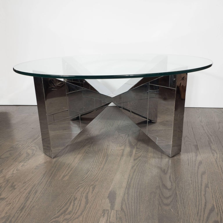 This sophisticated Mid-Century Modern cocktail table represents part of Paul Evans celebrated