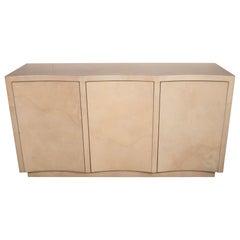 Modernist Lacquered Goat Skin Cabinet or Sideboard, Manner of Karl Springer