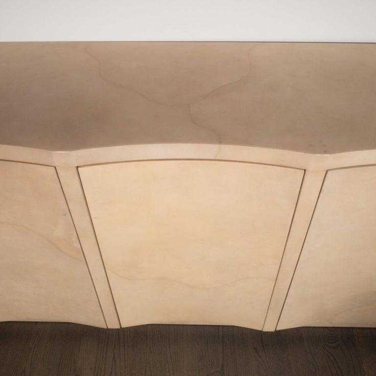 Modernist Lacquered Goat Skin Cabinet Or Sideboard Manner