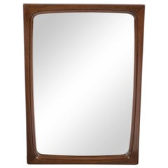 Scandinavian Mid-Century Modern Teak Mirror Designed by Aarhus