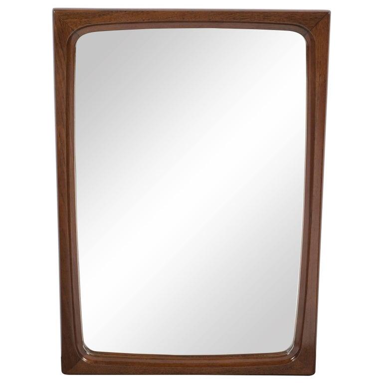 Scandinavian Mid Century Modern Teak Mirror Designed By Aarhus For