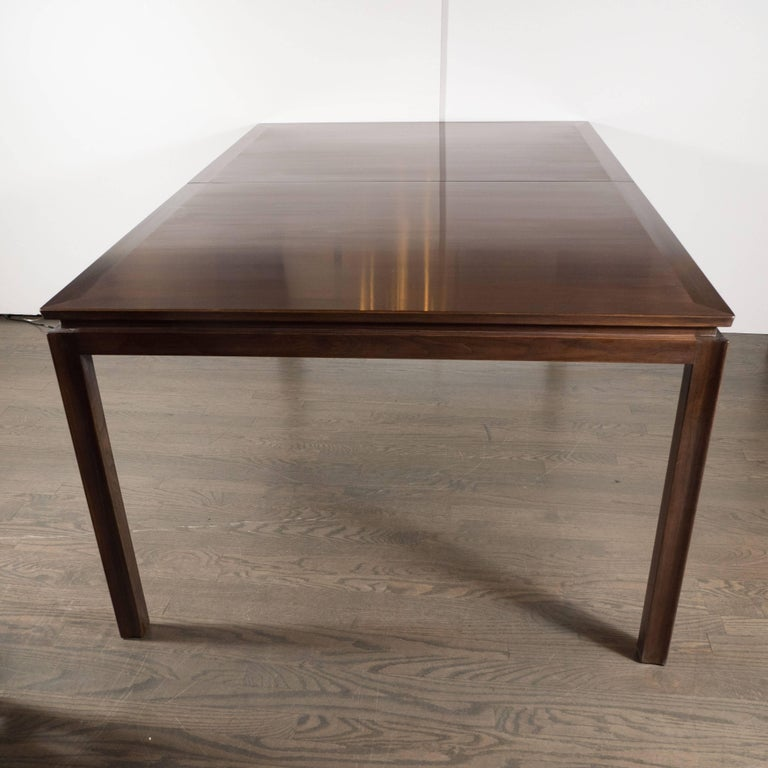 Mid century modern handrubbed walnut dining table by for Mid century modern furniture new york