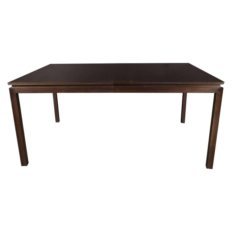 Mid-Century Modern Handrubbed Walnut Dining Table by Edward Wormley for Dunbar