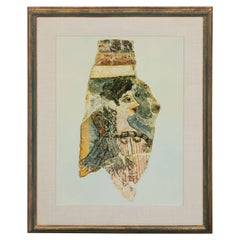 Modernist Print of a Greek Antiquities Pottery Fragment in Custom Gallery Frame