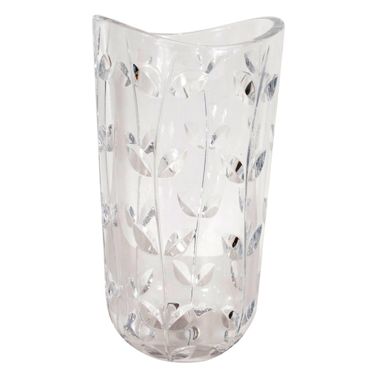 Tiffany And Co Crystal Corkscrew Vase For Sale At 1stdibs