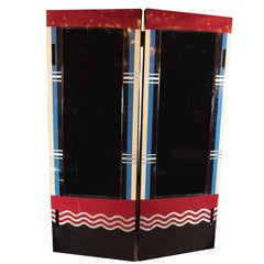 Art Deco Bakelite and Black Lacquer Doors or Theatre Screens by Robert Eberson
