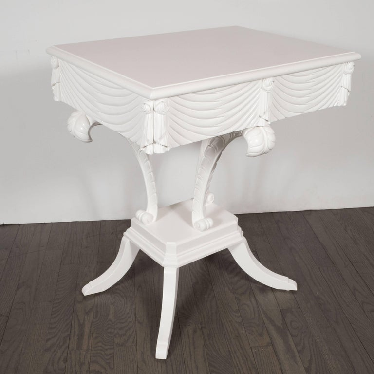 stunning white lacquer nightstand furniture. This Stunning Pair Of White Lacquer End Tables Were Realized By The Illustrious American Firm, Nightstand Furniture
