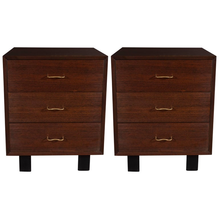 Pair of Midcentury Walnut Nightstands by George Nelson for Herman Miller