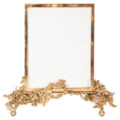 "Claude Boeltz Midcentury 24 Karat Gold ""Exploded"" Bronze and Rock Crystal Frame"