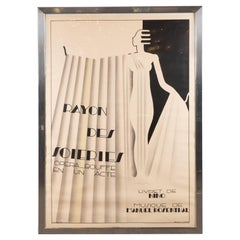 Art Deco Rayon Des Soieries Opera Bouffe Lithograph by Maurice Dufrène