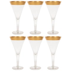 Set of Six Midcentury Champagne/ Martini Glasses by Dorothy Thorpe