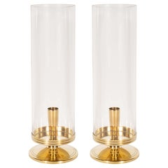 "Midcentury Brass ""Hurricane"" Candlesticks by Tommi Parzinger for Dorlyn Brass"