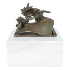 """Mid-Century Modern Bronze Sculpture Entitled """"Organic Shapes"""" by Jim Moore"""