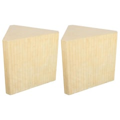 Pair of Mid-Century Modern Tessellated Stone End/Side Tables by Maitland Smith