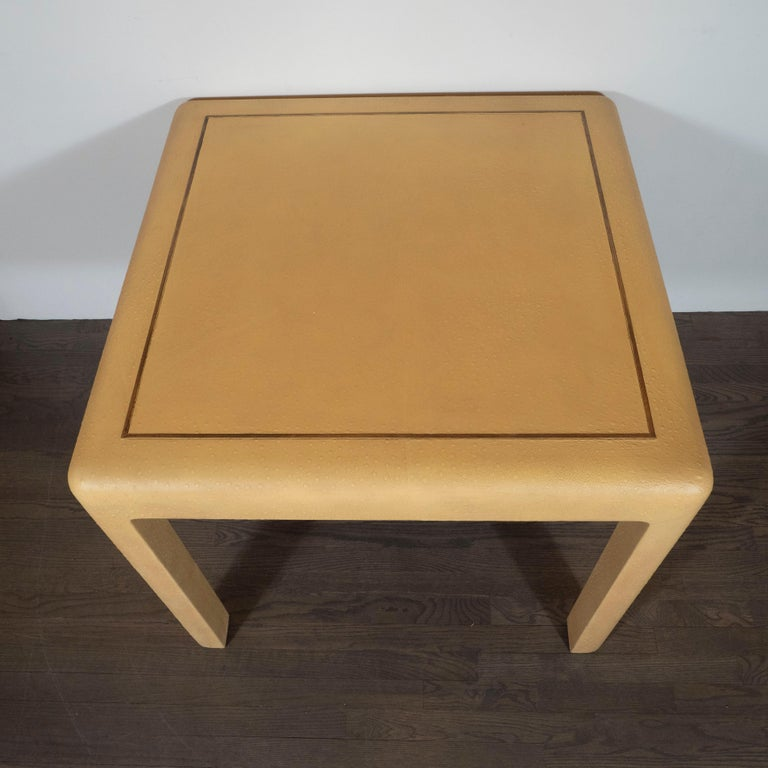 Late 20th Century Signed Mid-Century Modern Ostrich Game Table in Ostrich by Karl Springer For Sale