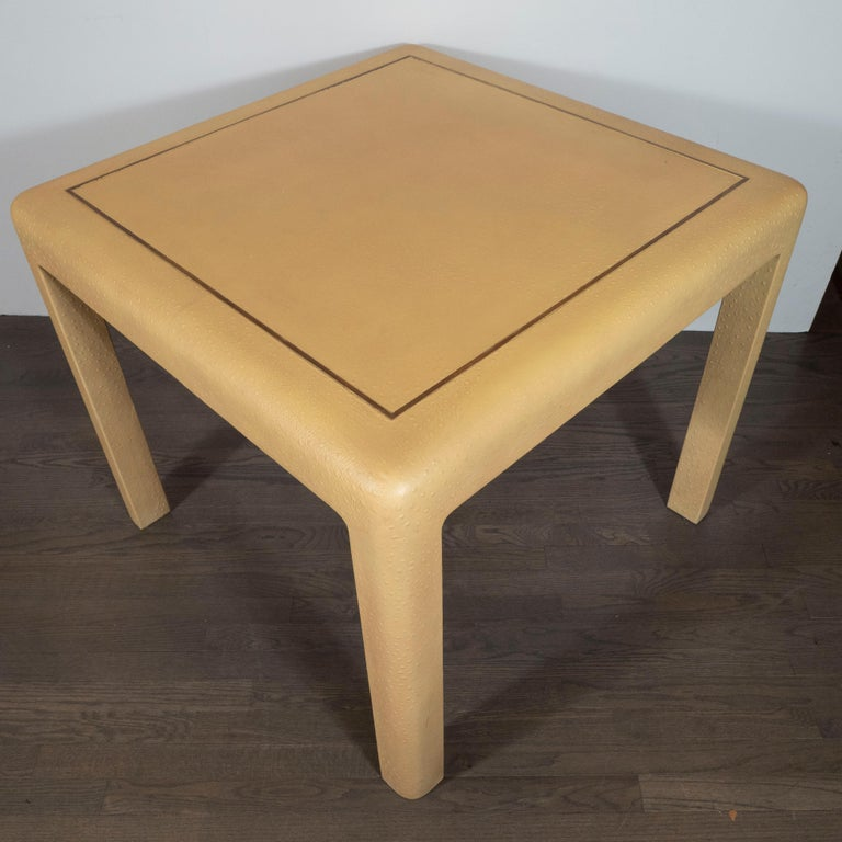 Signed Mid-Century Modern Ostrich Game Table in Ostrich by Karl Springer For Sale 2