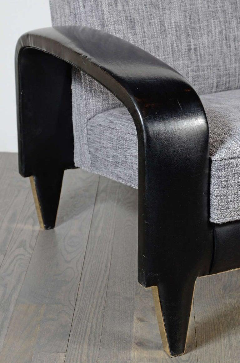 American Rare Art Deco Italian Club Chair from an Italian Cruise Ship For Sale