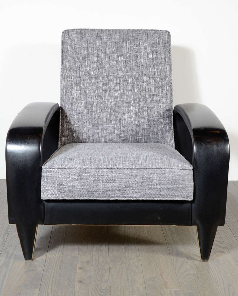 Rare Art Deco Italian Club Chair from an Italian Cruise Ship In Excellent Condition For Sale In New York, NY