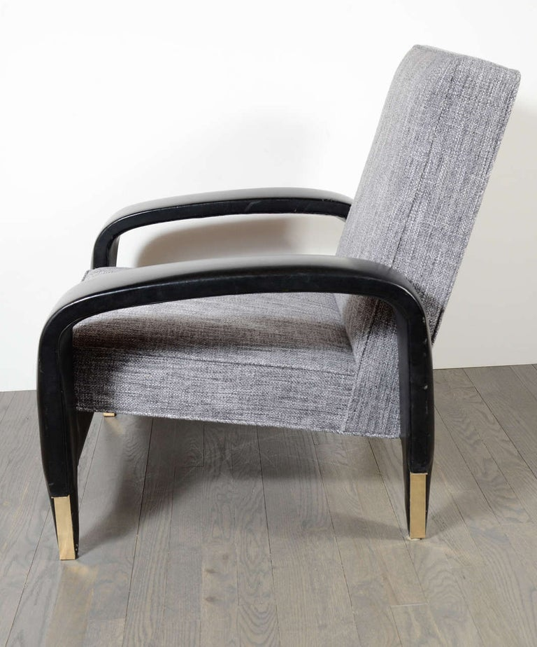 Mid-20th Century Rare Art Deco Italian Club Chair from an Italian Cruise Ship For Sale