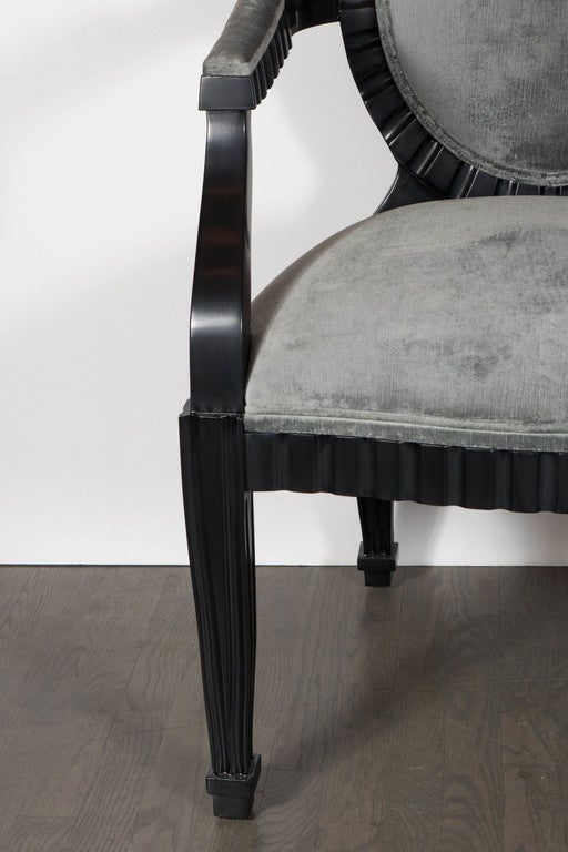 American Pair of Mid-Century Modern Chairs by Donghia in Ebonized Walnut For Sale