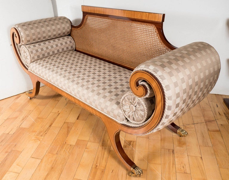 Mid-19th Century Elegant Biedermeier Sofa with Neoclassical Detailing, Germany, circa 1840 For Sale