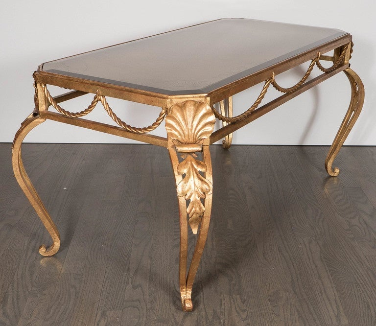 French Gilt Coffee Table: French Gilt Bronze And Glass Cocktail Table In The Style