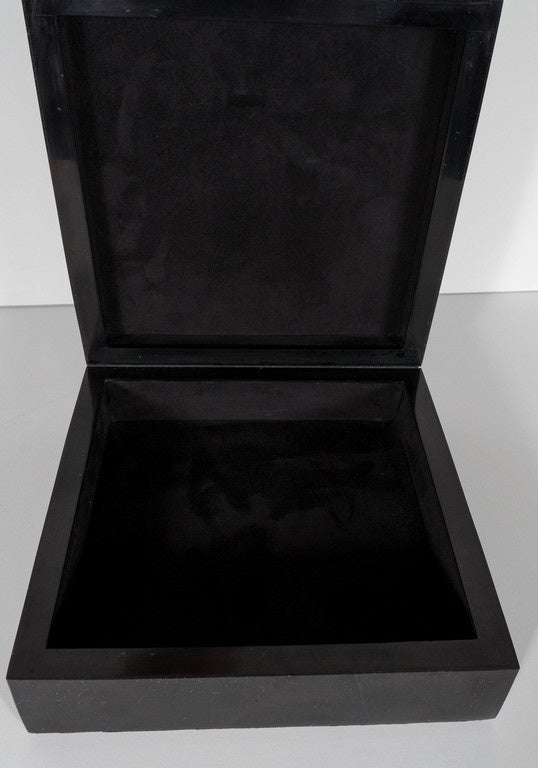 Lux Square Blacktab Shell Box With Allan Shell Overlay And