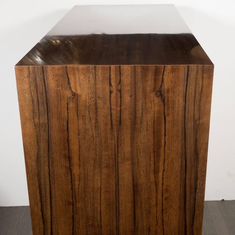 Art Deco Cabinet In Paldao And Acacia With Brass Pulls By