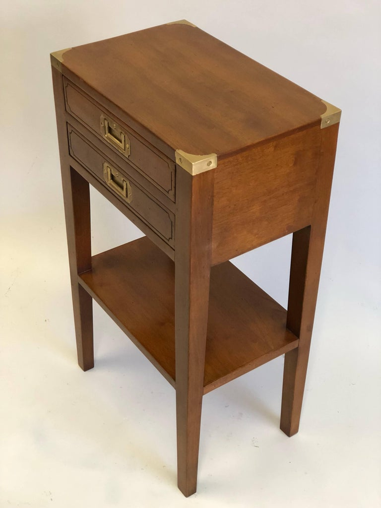 Pair French Mid-Century Modern Style Marine Nightstands / End Tables  In Good Condition For Sale In New York, NY